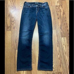 Silver Suki Mid Straight Fluid Denim Jeans size 30